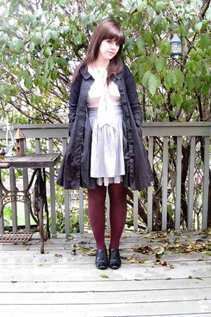 H&M coat - Topshop blouse - Gap skirt - - camper shoes