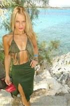 olive green Triumph swimwear