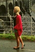 green River Island shorts - H&M top - hot pink River Island cardigan