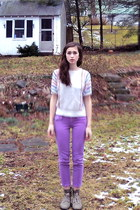 light purple jeans - off white Thrift Store sweater