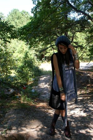 blue Forever 21 dress - brown Target boots