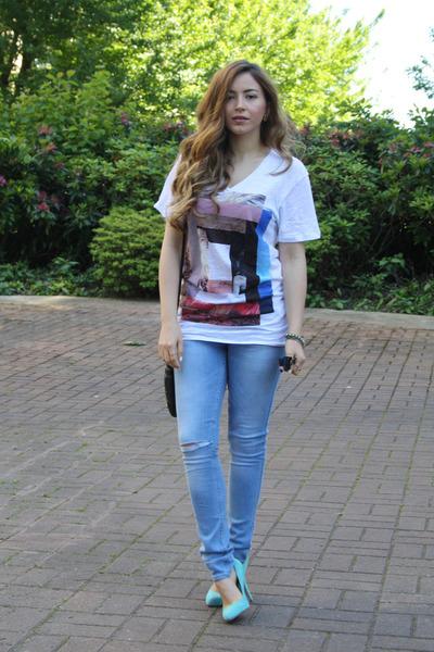 Zara t-shirt - Zara jeans - Aldo heels