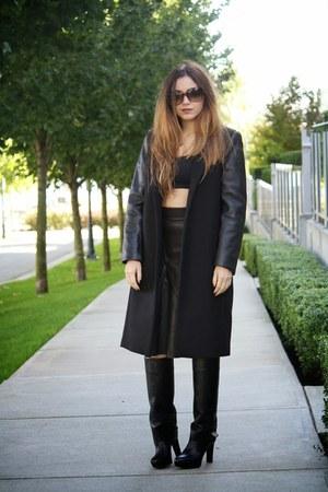 black Zara coat