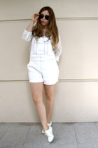 white Topshop romper - white Little Things flats