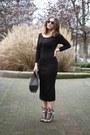 Black-zara-dress-heather-gray-alexander-wang-bag