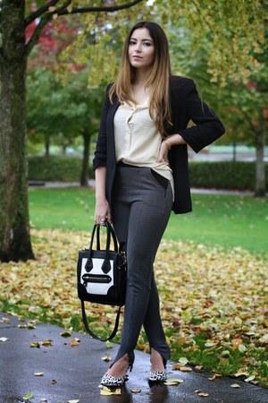 Aldo bag - Zara blazer - Nicholas heels