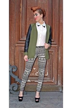 H&M pants - asos blazer - asos shirt - Jeffrey Campbell heels