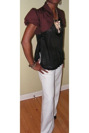 loeffler randall shoes - vintage pants - vintage intimate - Mango blazer