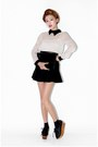 Black-nanda-girl-shoes-black-skirt-off-white-style-nanda-blouse