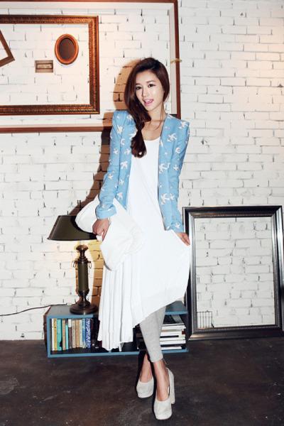 white Style Nanda dress - silver Forever 21 leggings