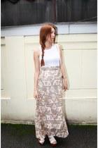 beige Style Nanda skirt - ivory Zara shirt