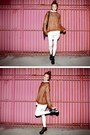 Bronze-stylenanda-top-off-white-leggings-ivory-stylenanda-shirt