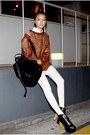 Off-white-leggings-ivory-stylenanda-shirt-black-nandagirl-bag