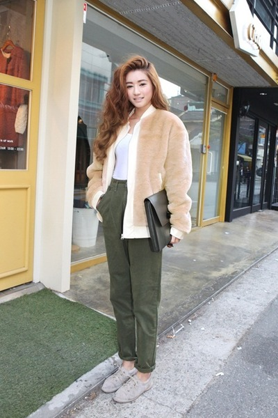 olive green pants - Pi Pants