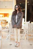heather gray coat