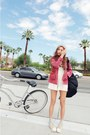 Bubble-gum-style-nanda-jacket-ivory-high-waisted-style-nanda-shorts