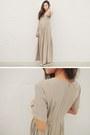 Beige-dress