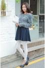 Navy-skirt