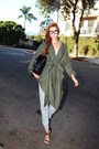 Olive-green-safari-stylenanda-jacket-silver-pants