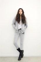 silver hoodie