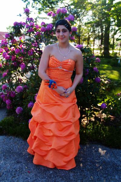 Silver Orange Dresses