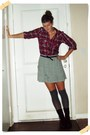 Silver-victorias-secret-skirt-ruby-red-charlotte-russe-shirt-heather-gray-we