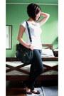 Black-girlshoppe-necklace-black-parisan-bag-white-zara-top