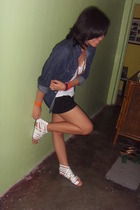 random from Bangkok jacket - bench top - Mango shorts - ichigo shoes - random fr