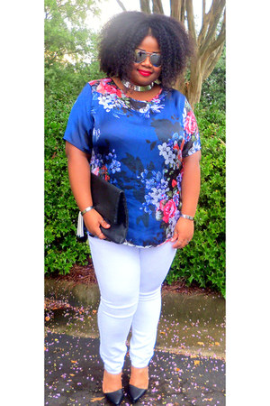 Forever 21 shoes - Old Navy jeans - floral Macys top - H&M accessories