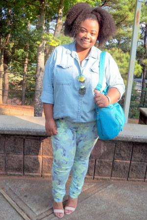 denim Old Navy top - GoJane shoes - Target jeans - H & M accessories