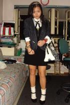 Topshop dress - Topman shirt - Topshop blazer - Republic shoes - moms purse
