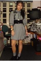 moms dress - Bazaar belt - Dept Store socks - marikina shoes