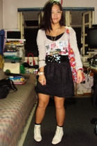 Mango top - handmade skirt - bangkok belt - Nine West shoes - SM purse