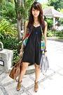 Black-cotton-on-dress-gray-topman-cardigan-zara-aldo-bag-from-hong-kong-