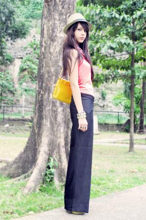 random from Hong Kong top - Zara hat - wide-legged random from Bangkok pants