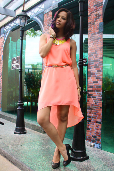 salmon mullet Mango dress