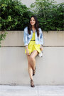 Gap-jacket-white-alexander-wang-bag-black-zara-heels-yellow-topshop-romper