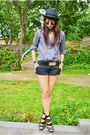 Black-zara-gray-from-hong-kong-black-belt-black-h-m-shorts-black-forever