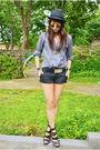 Black-zara-gray-from-hong-kong-black-belt-black-h-m-shorts-black-forever