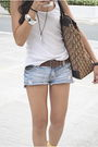 White-topshop-top-brown-gap-belt-diy-brown-forever-21-brown-christian-di