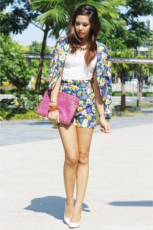 floral print Culte Femme blazer - bubble gum Culte Femme bag