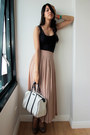 Black-dress-turned-forever-21-top-white-gucci-bag-tan-charles-keith-pumps
