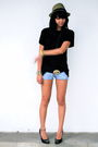 Zara-black-topman-black-belt-forever-21-shorts-black-dolce-vita