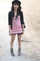 black Randomly found in Hong Kong cardigan - black Zara shorts