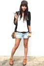 Black-cardigan-white-from-hong-kong-top-forever-21-shorts-soda-brown-pie