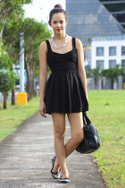 black cutout Topshop dress