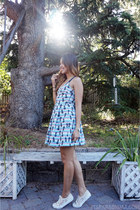 sun Zara dress - off white lace Superga sneakers