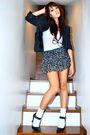 Black-blazer-white-randomly-bought-in-hong-kong-black-charlotte-russe-skirt-