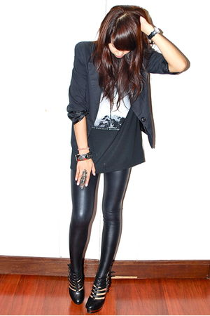 black sm department store blazer - black pvc Forever 21 leggings