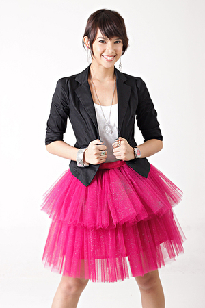 black random from Hong Kong blazer - pink glittered tutu Glitterati